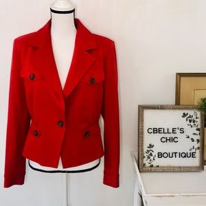CAbi Little Red Jacket in Crimson Style# 3374 Sz 6